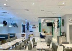 LED-hellblaue Streifen-Gaststätte-Stände oder Prüftisch für japanische Sushi-Gaststätte