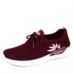 De in te ademen Donkerrode Populaire Lopende Tennisschoenen van de Injectie Flyknit voor de Schoenen van Vrouwen