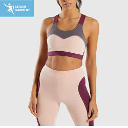 중간 지원 숙녀를 위한 섹시한 스포츠 브래지어 3 음색 체조 운동 의복