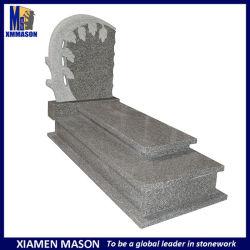 En Afrique du Sud G603 de Style de la Chine cimetière pierre tombale de granit gris avec des arbres de la conception de lignes réseau