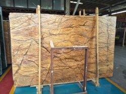 Популярные природного камня тропических лесов мрамора для внутренней стенки пола плитки слоев REST
