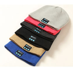 Bluetooth 베레모 모자에 의하여 뜨개질을 한 음악 모자 헤드폰 스피커는 자유로운 남자에게 여자를 소녀 겨울 베레모 수교한다