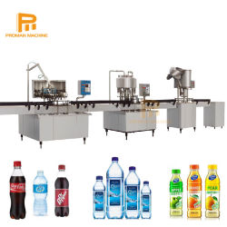 500cc Plc Control Watersap Koolzuurhoudende Frisdrank Productielijn Met 1500bph Plastic Fles Wassen Vulkappermachine