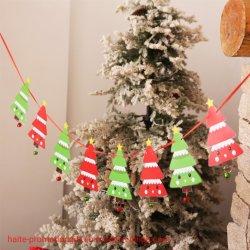 Weihnachtshochwertige Markierungsfahnen-Zug-Weihnachtsfenster-Hotel-Szenen-Dekoration-bunte Markierungsfahnen
