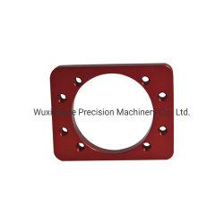 高品質6061アルミニウムCNCによって機械で造られる赤い陽極酸化された機械装置部品レーザーの彫版のロゴ
