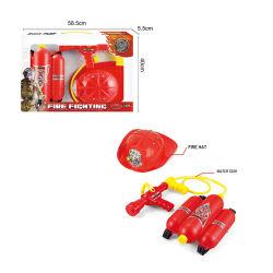 Jeu de rôle les jouets pompier Équipement de lutte contre les incendies d'engrenage poteau incendie Casques de jouets pour enfants