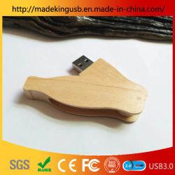 Logotipo personalizado USB 2.0 de 64GB Pen Drive USB Flash Drive de madera