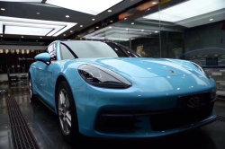 1,52*18m Accessoires auto cristal brillant bleu clair super voiture de l'Autocollant couvercle en vinyle d'enrubannage