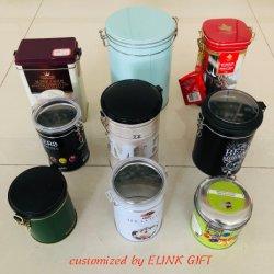 سعر رخيصة صنع وفقا لطلب الزّبون طباعة مستطيل قصدير علبة قهوة يستطيع شاذة [ستورج بوإكس]