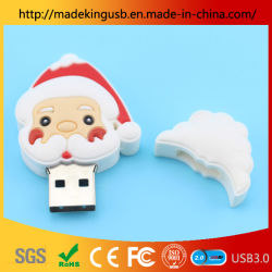 2019 Popolare Santa Claus Head USB Flash Drive/USB Stick per Natale