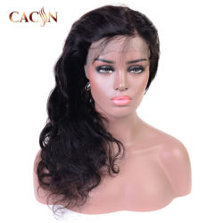 Una muestra gratis italiano Yaki rizado cabello humano pleno encaje peluca