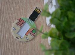 Mini tarjeta redonda U disco Tarjeta USB Flash Drive
