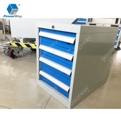 Outil d'usine 4 tiroirs de stockage d'acier latérales Classeur métallique
