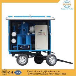 Sucio el reciclaje de aceite de motor usado el purificador con filtros de etapa doble