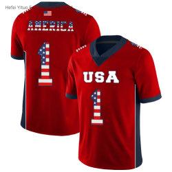 De volledig Afdrukkende Digitale Gevormde Sportkleding van de Voetbal Nr 1 van het Netwerk van de Vrijheid van de V.S.