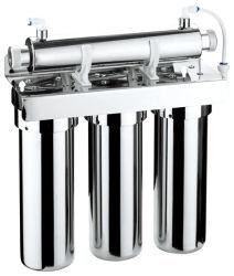 Etapa 4 UF Filtro de agua con Esterilizador UV/Tap purificador de agua con sistema de Ultra Violeta/cocina solución de agua con esterilizadores ultravioleta Qy-Ufuv04