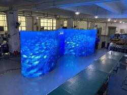 P2 P4 Pannelli per moduli a parete per interni personalizzati Pantalla Giant Video pubblicitario schermo LED flessibile