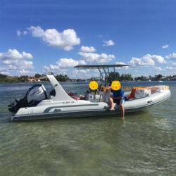 Hypalon Liya 6.6m costela bote 12 Pessoa barco inflável PVC