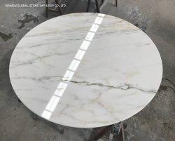 Chinese natuursteen graniet/kwartsiet Countertops Calacatta Oro Wit marmer Ronde Tafelbladen voor meubels in de kamer van het hotel