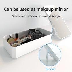 Draadloos het Laden van de Oppervlakte van de spiegel snel Desinfecterend middel Geval de Doos van UVSanitization van de Ultraviolette LEIDENE Sterilisator