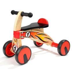 더위를 팔다 토들러 나무 균형 자전거 귀여운 아기 나무 삼발자전거 워커 프레취울 장난감 라이드 온 장난감