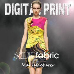 2017a Impressão Digital Superior elegante em seda