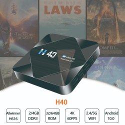 2021 Factory Set Top Box Quad Core 4K HD Smart Android 10.0 TV Box H616 Chip Ott STB