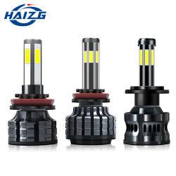 المصباح الأمامي LED من نوع Hizg Hot X7 من أربعة جوانب طراز COB 6000K 8000lm 72 واط 9005 9006 9012 H11 H7 H4 ضوء السيارة LED