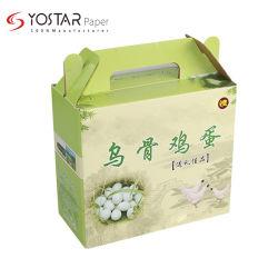 Дружественность к окружающей среде продовольственная бумаги гофрированный картон портативный яйцо подарочная упаковка с офсетной печати