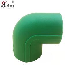 Montaje del tubo PPR verde/gris/blanco 20-110mm codo de 90 grados