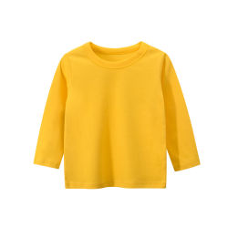 2020 Newest confortables à manches longues en coton couleur unie pour les enfants Boy's T-shirts