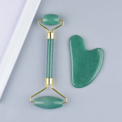 Высокое качество против старения массаж лица инструменты перед лицом закрывается Quartz Jade ролик Gua Ша, розового цвета подарок золотые камня Органа