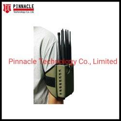 12 Antena com 2 horas de mão de bateria sinal Bluetooth Wi-Fi Jammer Bloqueador de sinal GPS/ UHF VHF 2G, 3G, 4G 5G, 3.6G celular 5.8G Jammer