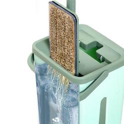 Limpieza de suelos telescópico de metal húmeda de algodón de plástico de microfibra limpiador perezoso Magic Mopas Planas