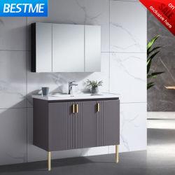 Fábrica fornecimento direto Casa de Banho Vanity 304 Aço inoxidável impermeável Big Armário de Casa de Banho com compartimento do espelho do espaço de armazenamento (BY-B6225-3-100)