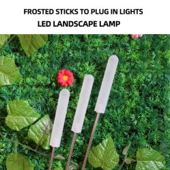 Plug-in (قابس) أرضي المصباح الأفقي الشمسي لركن حديقة حديقة أجريليك المفتوحة المجمد المصباح