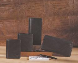 Fabrication de la Haute Couture Hommes Business Design Portefeuille en cuir de vache défini pour le vol d'identité de la protection de la RFID avec toboggan titulaire de carte et Coin Pocket Wallet (UE4106)