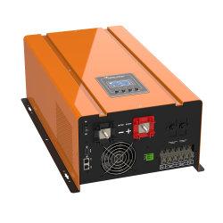5000va بقوة 5000 واط مع قوة 5 كيلو واط، قوة دفع أحادية الطور قبالة الشبكة، موجة جيبية صافية محول تيار مستمر/تيار متردد منخفض التردد مع شاشة عرض LCD والمحول