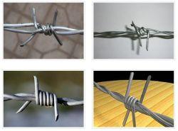 Alambre de Púas alambre de hierro galvanizado o malla de alambre de púas con alta resistencia