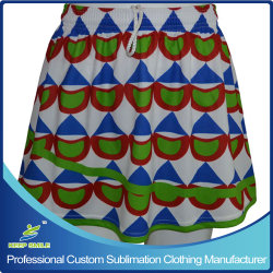 Kundenspezifisches Sublimation Ladys Lacrosse Sports Skirt für Sport- Clothing Without Lining