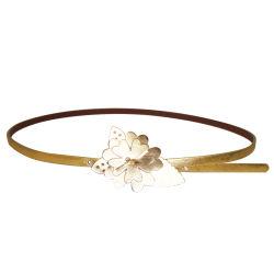 Mode de boucle de fleur Lady's étroite ceinture Ky2190