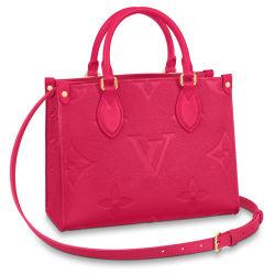 Borsa tote Onthego in pelle goffrata rossa da donna con tracolla Lady Confezione regalo per borse a spalla disponibile