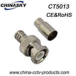 CCTV BNC Macho Conector para Crimpar RG59U Cable (CT5013)