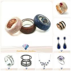 中国の女性の人ボディ925純銀製の方法宝石類(A2r003)のための卸し売り安く良い模造ダイヤモンドのジルコンのステンレス鋼の金の銅の結婚式の宝石類