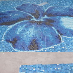 Blaues Color Various Use Swimming Pool Glass Mosaic Blend, Glass Mosaics für Swimming Pools, Exterior Facades, Flooring