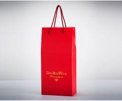 Boîte de vin de papier, carton, sac de papier, boîte cadeau, cas d'emballage, sac à main, unique et deux boîtes de vin peuvent être personnalisés.