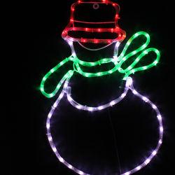 230 В рождественские украшения снежную бабу стиле веревки светодиодный индикатор