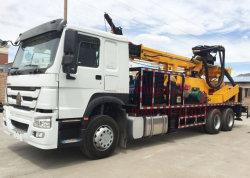 Montés sur camion hydraulique rotatif profonde de l'eau plate-forme de forage de puits de la machine pour la boue et la distribution par SRD Forage