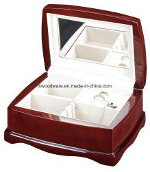 Acabamento de alto brilho vermelho jóias de madeira anel de diamantes para Caixa de oferta