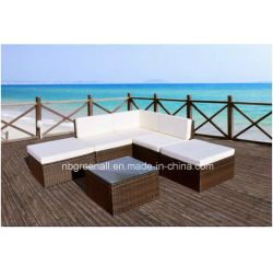 Muebles de mimbre del jardín del sofá de los muebles al aire libre L-Modernos